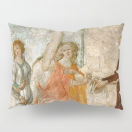 """Sandro Botticelli """"Venus and the Three Graces Presenting Gifts to a Young Woman"""" Pillow Sham"""