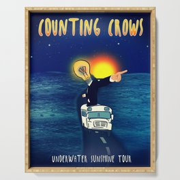 COUNTING CROWS UNDERWATER SUNSHINE TOUR DATES 2019 IPIN Serving Tray