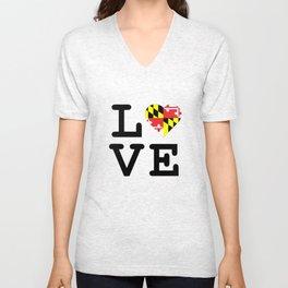 Love Maryland Unisex V-Neck