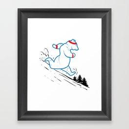 DA BEARS - RUNNING Framed Art Print