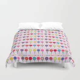 Little Maids all in a Row Duvet Cover