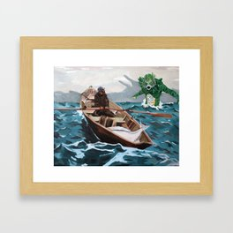 "Winslow Homer's ""Storm Warning"" Revisted Framed Art Print"