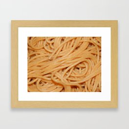 Various homemade food, textures and ingredients Framed Art Print