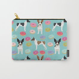 Rat Terrier donuts dog breed pet portrait dog pattern dog breeds gifts for dog lovers Carry-All Pouch
