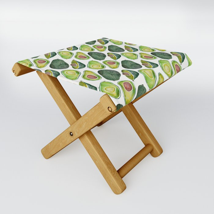 Avocado Slices Folding Stool