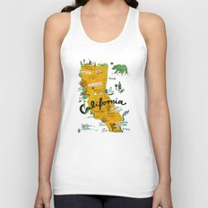 Postcard from California Unisex Tank Top