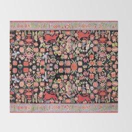 Täcke Antique Swedish Skåne Wedding Blanket Print Throw Blanket