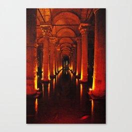 Istanbul Cistern  Canvas Print