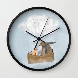 the cloud balloon Wall Clock