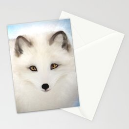 Inquisitive Arctic Fox Stationery Cards
