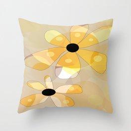 FLOWERY DINA  / ORIGINAL DANISH DESIGN bykazandholly Throw Pillow