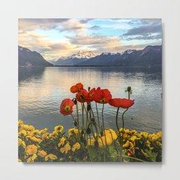 Springtime in Montreux, Switzerland Metal Print