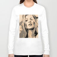 kate moss Long Sleeve T-shirts featuring KATE MOSS by Christophe Chiozzi