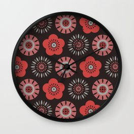 MCM Flower Power Wall Clock