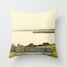Kennebunkport Coast Throw Pillow