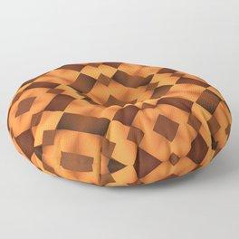 Pattern in Warm Tones Floor Pillow