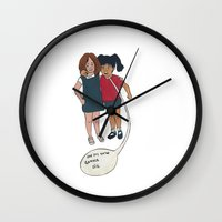 motivation Wall Clocks featuring Motivation by The Littlest Boot