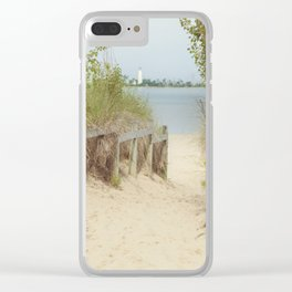 Path to the beach Clear iPhone Case