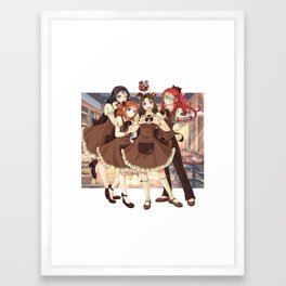 Caramel Girls Framed Art Print