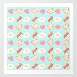 Cute Breakfast Art Print