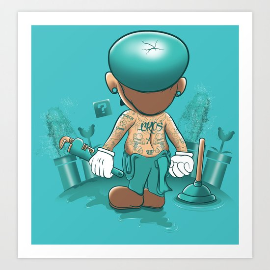 It's a Plumber's Hard Life! Art Print