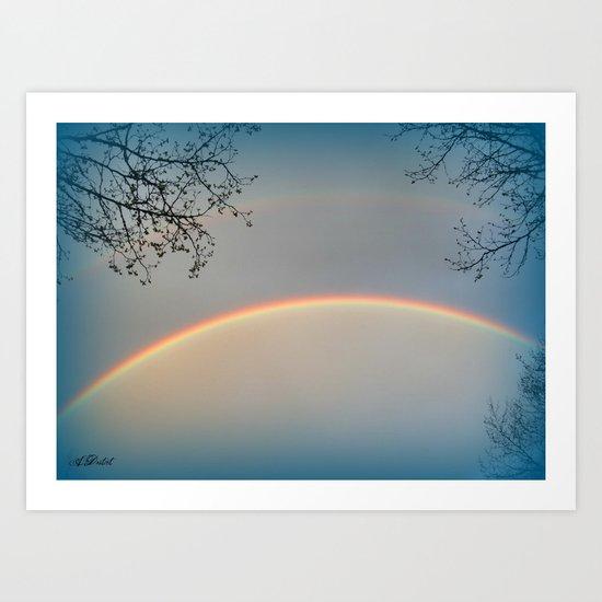 Blue Rainbow Art Print