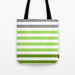 Stripes Gradient - Green Tote Bag