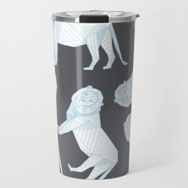 African Animals - Lion Grey Travel Mug