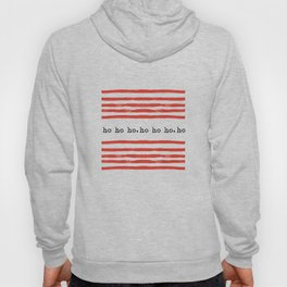 red stripes-ho ho ho Hoody