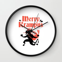 Merry Krampus Wall Clock