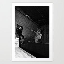 Skating Frontside Fox Art Print
