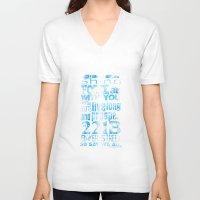 fandom V-neck T-shirts featuring Fandom Motto by Tracey Gurney