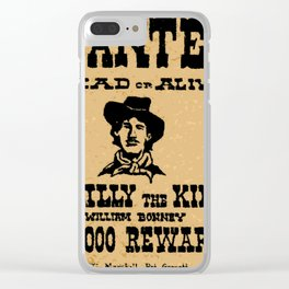 Wanted Dead or ALive Clear iPhone Case