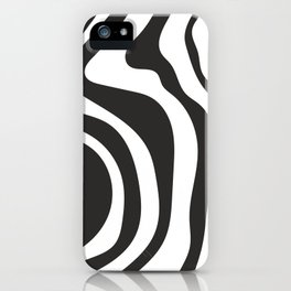 Black and White Swirl Pattern iPhone Case