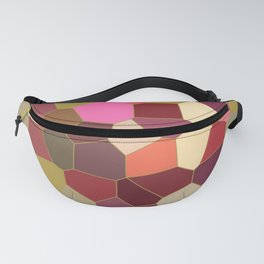 Red and Gold Festive Dazzle Stained Glass Abstract Fanny Pack