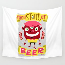 monSTOUTer beer label Wall Tapestry