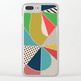 color segments 002 Clear iPhone Case