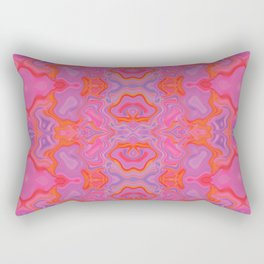 Mad pink marble 2 Rectangular Pillow