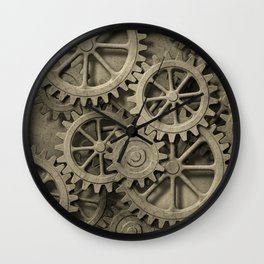 Steampunk Cogwheels Wall Clock