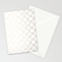 Simply Mod Diamond White Gold Sands on White Stationery Cards