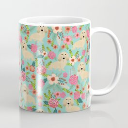 Dachshund longhaired cream doxie floral dog breed pet gift for dachsie lovers must haves Coffee Mug