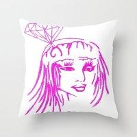 nicki Throw Pillows featuring cronart by cronart