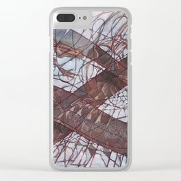 Stare-Down Be it Love or Death Clear iPhone Case