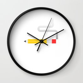 Smoking Pencil Wall Clock