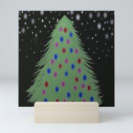 Christmas Tree In The Night Mini Art Print