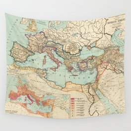Vintage Map of The Roman Empire (1889) Wall Tapestry