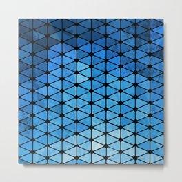 Blue Geometric Metal Print