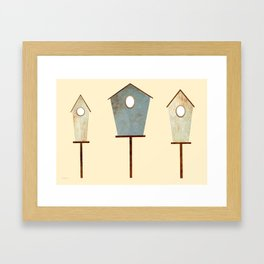 Birdy Birdhouse Framed Art Print