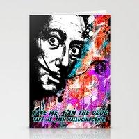 salvador dali Stationery Cards featuring Salvador Dali by Zoé Rikardo