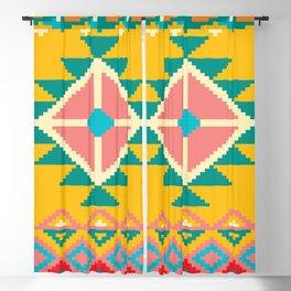 Yellow Native Aztec Blackout Curtain